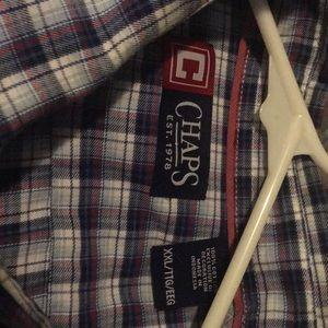 EUC Chaps XXL/Tall button down plaid shirt